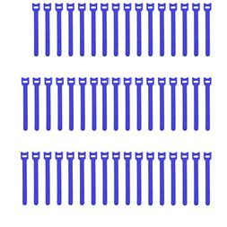 Pasow 50pcs Reusable Fastening Adjustable Cable Ties Wire Ma
