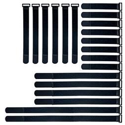 Reusable Fastening Cable Straps and Cable Ties Set 20 Pack b