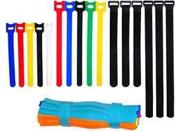 Ceeyali Colored Reusable Fastening Cable Ties Cable Straps f