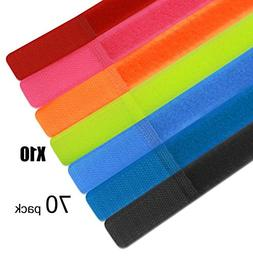 Onirii 70 PCS Reusable Fastening Cable Ties with Microfiber