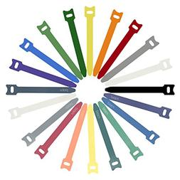 Patu Reusable Fastening Cable Ties - 20 Pcs 8 Inch Microfibe