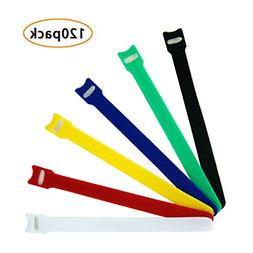 Microfiber Cloth Cable Straps Hook and Loop Reusable Fasteni