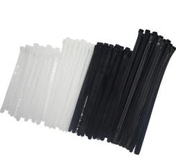 Reusable Releasable Adjustable Nylon Cable Zip Ties 100 PACK
