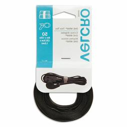 VELCRO REUSABLE TIES straps cable wrap wire zip plastic 50 p