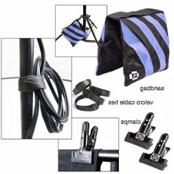 Sandbags Accessory Kit Photo Clamps Clips Velcro Cable Ties