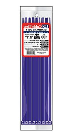 US Cable Ties SD11PR100 11-Inch Standard Duty Cable Ties, Pu