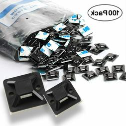 Self Adhesive Cable Tie Mounts - 3M Strongly Adhesive-Backed