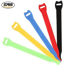 Wode Shop 50 Pieces Reusable Cable Ties, Cord Wraps Adjustab