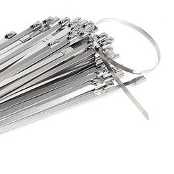 HYCC 100pcs 11.8 Inches 304 Stainless Steel Cable Zip Ties E