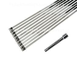 stainless steel cable ties strap exhaust wrap
