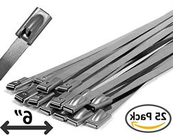 """6"""" Stainless Steel Cable Ties - 25 pieces"""