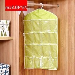 Storage Bag - 16 Grids Foldable Wardrobe Hanging Bags Underp