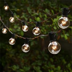 Outdoor String Light, G40 25Ft Globe Bulbs Edison Style Pati