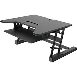 Premium Tabletop Adjustible Height 36 Inch Wide Sit Stand Ri