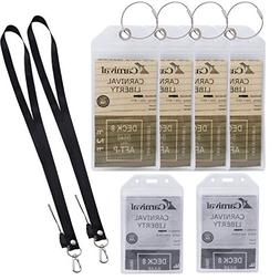 ColorYourLife Thick Clear PVC Cruise ID Tags Badge Holders P