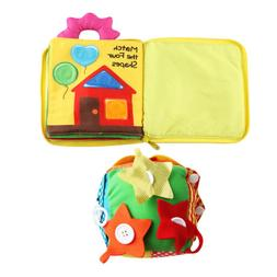 Toddler Early Learning Toy - Learn to Zip Button Buckle Tie