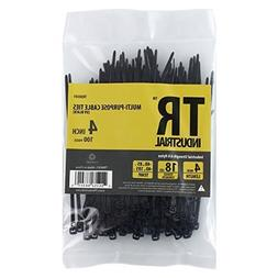 TR Industrial TR88301 Multi-Purpose Cable Ties , 4, Black by