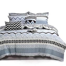 Triangle and Geometric Duvet Cover Set, Soft and Comfortable