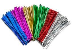 Twist Ties Metallic 10cm for Cone Cellophane Bags Party/Cake