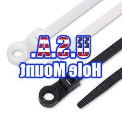 USA Made Hole Mount Cable Ties/Tie Wraps/ Zip Ties 12 Inch 5