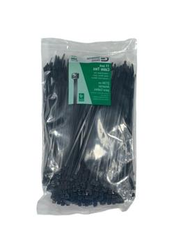 Commercial Electric UV Cable Ties Wire Strap Tie Zip Cord Bl