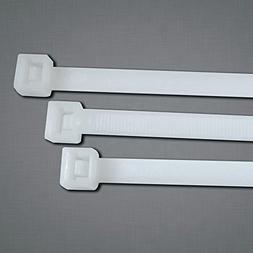 """UV Stabilized Cable Ties, 50 lb Tensile Strength, 14.6"""", Bla"""