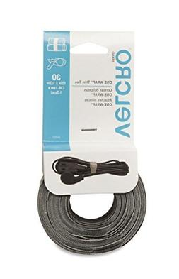 Velcro 94257 4 Pack 15in. x 1/2in. One Wrap Thin Ties, Black