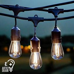 Vintage Outdoor String Lights Kit, 2W S14 LED Filament Bulbs