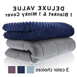 Weighted Blanket Adult Size Heavy Stress Relief, Autism, Res