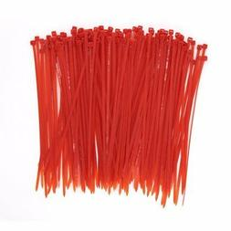Wide 8 Inch 150 Pack Strong Red Color Heavy Duty Cable Zip T