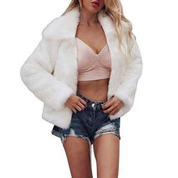 Forthery Women Coat Clearance Vintage Winter Warm Fluffy Fau