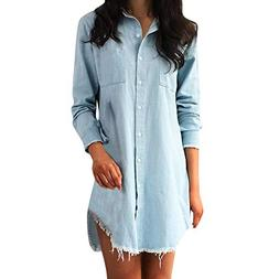 Respctful✿Women Long Sleeve Button Casual Pullover Tops T