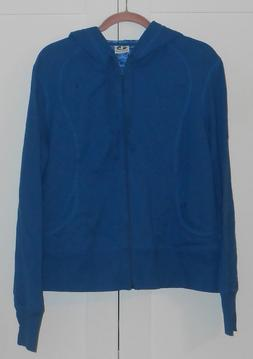 WOMEN'S ATHLETIC WORKS BLUE FRENCH TERRY ZIP-UP HOODIE/DRAWS