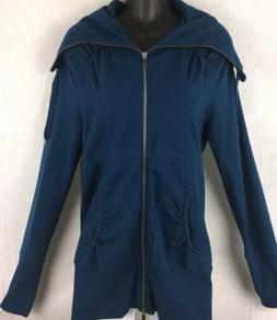 Women's ZELLA Full Zip Sweatshirt Size Medium Ties In Back R