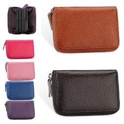 Womens Lady Leather Small Mini Wallet Card Holder Zip Coin P