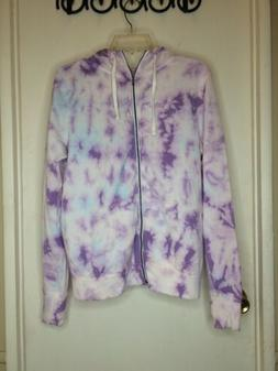 Women's zip up hoodie Size large SO Purple Tie Dye NWT Lig