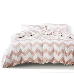 Wake In Cloud - Zig Zag Duvet Cover Set, 100% Cotton Bedding