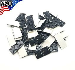 "Zip Cable Tie Adhesive Mounting Base Pad 3/4"" 100pc Made in"