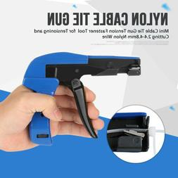 Zip Cable Tie Gun Fasten Handheld Chrome Steel Tool manually Cutting Nylon Wires