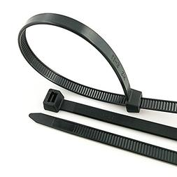 HS Zip Cable Ties UV Zip Ties Black 22x0.35 Inch  175 LBS Ex