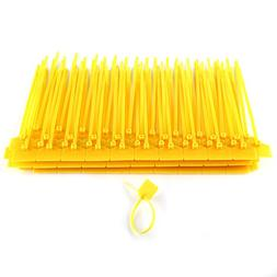 100pcs Zip Ties Network Cable Ties Identification Mark Signs